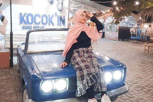 Salah satu spot photo Kocok'in Kebonan