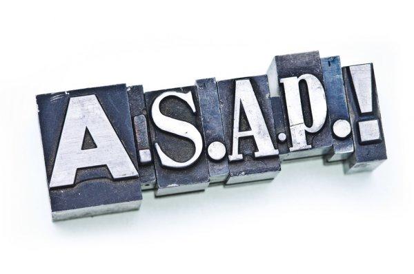 Mengenal arti kata as soon as possible ( ASAP)