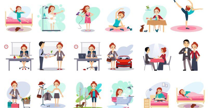 Contoh daily activity dalam bahasa Inggris dan terjemah.